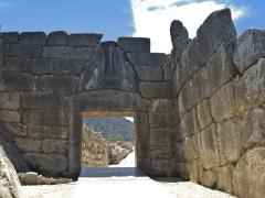 13_Ancient-Mycenae,-gate-of-the-lions,-Peloponnesus,-Greece